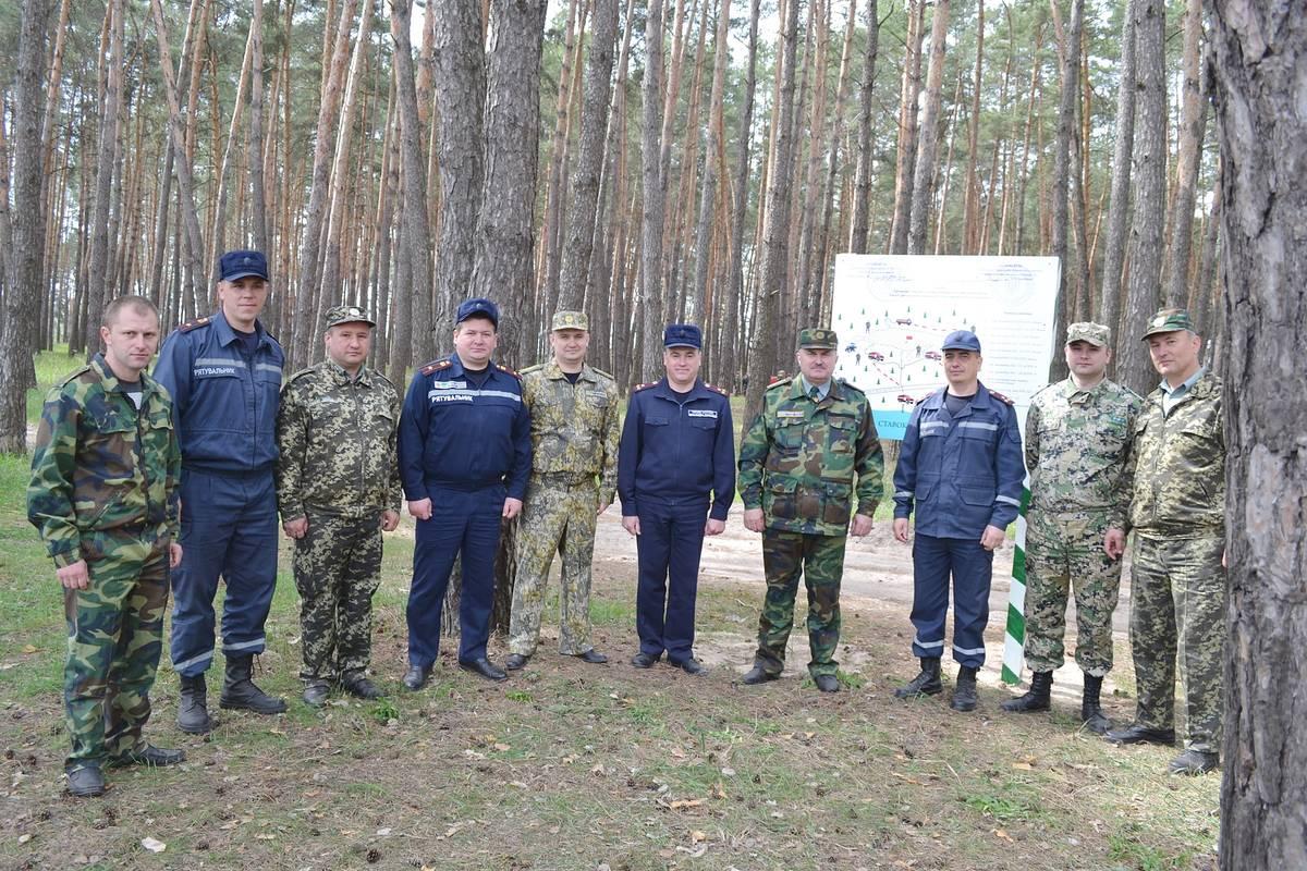 У Золотоніському лісгоспі відбулися обласні навчання з ліквідації умовної лісової пожежі (квітень)